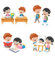 kids are back to school vector image vector image