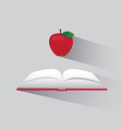 logo book and apple vector image