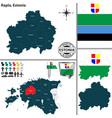 map of rapla estonia vector image vector image