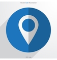 map pointer web flat icon vector image vector image