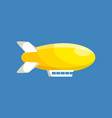 modern airship balloon aerostat transport vector image