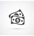 Money dollar flat trendy icon vector image vector image