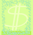 money notes green vertical background vector image vector image