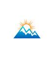 mountain nature logo design template vector image