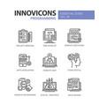 programming - modern line design icons set vector image vector image