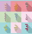 ribbon icons set flat style vector image