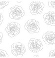rose outline background vector image