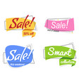 set colored promotion banners flat bubble shaped vector image