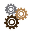 set gears mechanical team work concept vector image