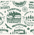 set outdoor adventure seamless pattern vector image vector image