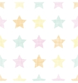 Stars textile textured pastel seamless pattern vector image