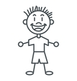 stick figure boy icon vector image