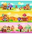 Sweets Landscape Banners Set vector image vector image