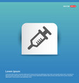 syringe icon - blue sticker button vector image