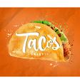 Tacos color vector image vector image