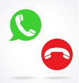 telephone call pick up hang up icons vector image