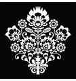 traditional polish folk art pattern on black vector image vector image