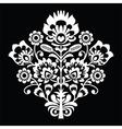 Traditional Polish folk art pattern on black vector image