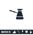 Turkish Coffee icon flat vector image vector image