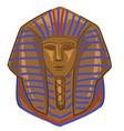 tutankhamun gold tomb pharaoh mummy vector image vector image
