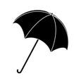 umbrella silhouette outline symbol icon design vector image vector image
