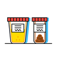 urine and fecal analysis vector image