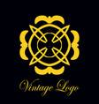 vintage ornate logo vector image