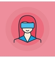 Woman with VR glasses icon vector image vector image