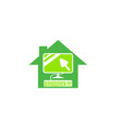 work from home icon in a greenhouse shape vector image