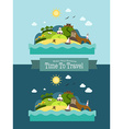 Paradise Tropical Island Landscape Vacation vector image