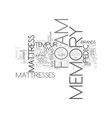 a guide to memory foam companies text word cloud vector image vector image