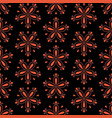 abstract colorful seamless floral pattern with red vector image