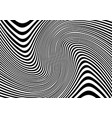 abstract distorted lines black and white vector image
