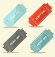 Admit One Retro Ticket Set vector image vector image