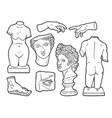 ancient sculpture handdrawn vector image vector image