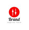 arrow brand logo template design vector image vector image