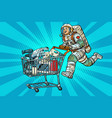 astronaut on sale of home appliances vector image