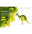 australia website landing page template vector image
