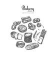 bakery shop set 6 vector image vector image