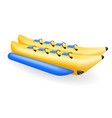 banana inflatable boat for water amusement vector image vector image