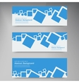 banner Abstract blue brochure squares vector image
