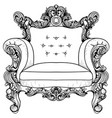 baroque armchair with luxurious ornaments vector image vector image