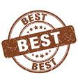 best brown grunge round vintage rubber stamp vector image vector image