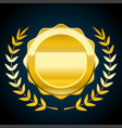 blank gold token of award vector image vector image