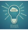 business success concep vector image vector image