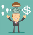 businessman get idea to make money vector image vector image