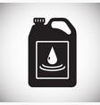 car oil icon on background for graphic and web vector image