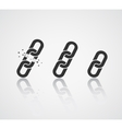 Chain Icon Collection Link Symbol vector image vector image