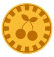 cherry gold casino chip vector image