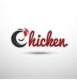 chicken emblem vector image vector image